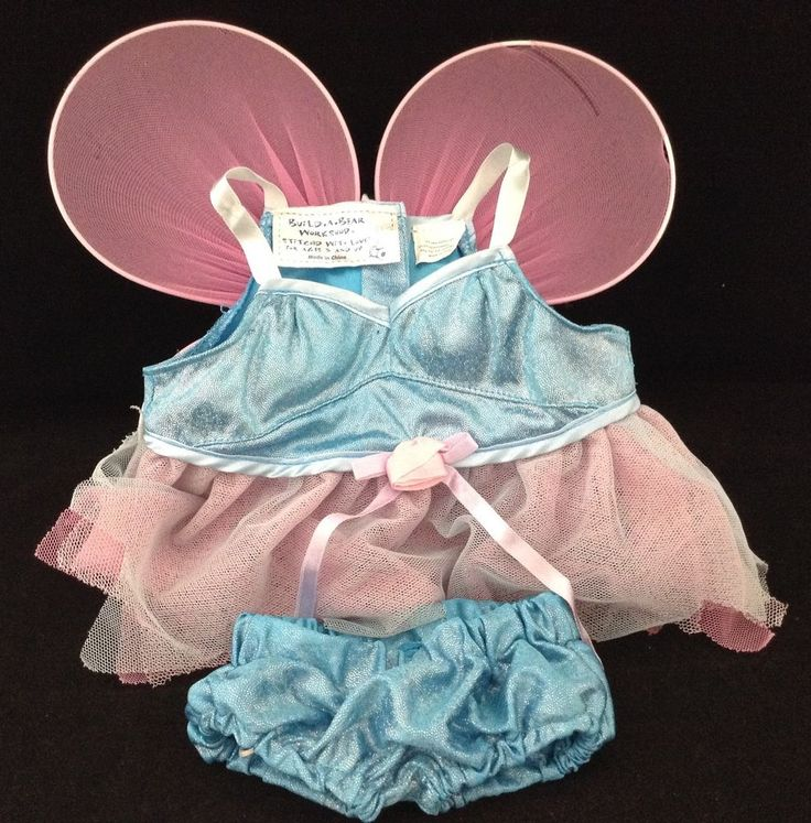 Build A Bear BAB Fairy Costume Wings Dress Pants Teddy Clothes Blue Pink St Loui #BuildaBear #AllOccasion