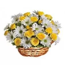 Happy Basket | Mixed Flower Basket | Flower Basket
