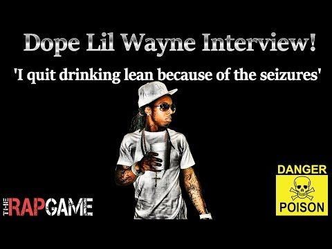 """Lil Wayne :""""I quit drinking lean because of the seizures"""""""