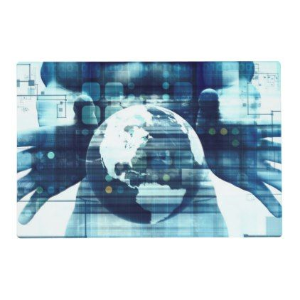 Digital World and Technology Lifestyle Industry Placemat - decor gifts diy home & living cyo giftidea