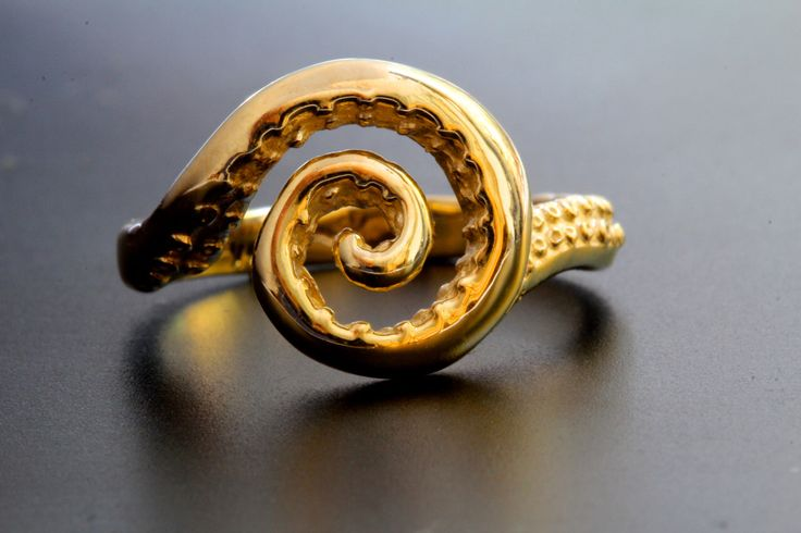 Special size request 11.5 Octopus Ring Solid Gold tentacle spiral twirl ring made in NYC Blue Bayer Design by BlueBayerDesignNYC on Etsy https://www.etsy.com/listing/267484201/special-size-request-115-octopus-ring