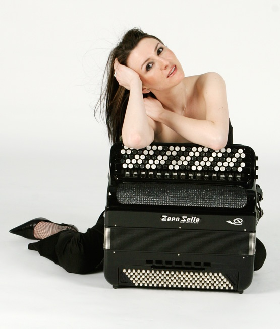 Chromatic button accordion virtuoso Lidia Kaminska of Philadelphia, Pa.