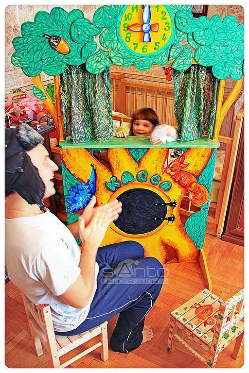 """Купить (09)Кукольный театр """"у Лукоморья"""" - кукольный театр, ширма для представлений, театр, куклы"""