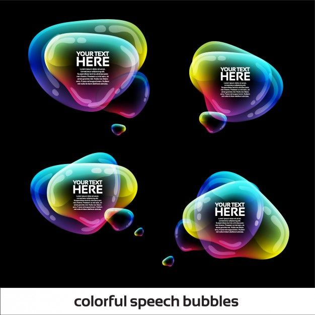 Colourful speech bubbles Free Vector