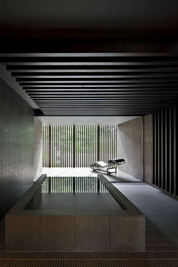 the bathroom at Dual House; designed by Kohmura Kenichi / Ken-Architects, Japan