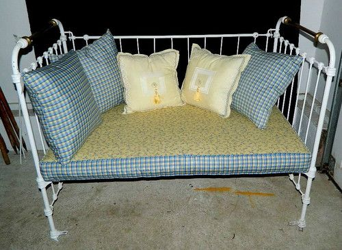 Repurposed Antique Crib Converted To A Day Bed This Piece