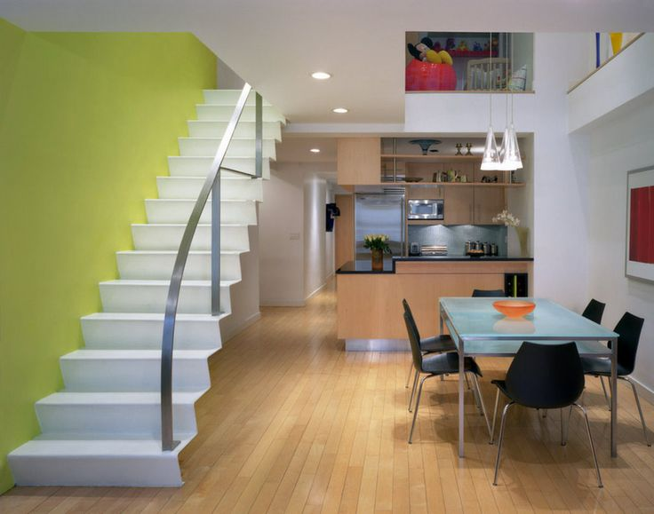 Chelsea Atelier Architect, PC Use The Stairs As Sculpture. Like The Above  Staircase, But In Reverse, These White Metal Stairs Extend Out From The  Lime Green ...