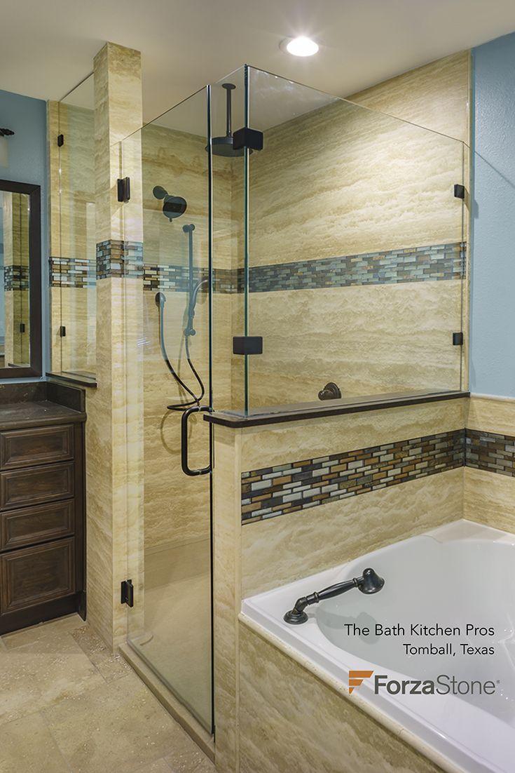 Bathroom remodeling albany ny - Bath Remodel Using Forzastone Natural Stone Panels Bathroomremodel