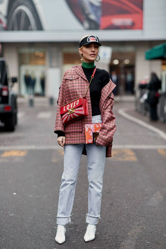 The Best Street Style Looks From Milan Fashion Week Fall 2018   Fashionista Brix and Bailey leather handbag and accessory design love this fashion week image www.brixbailey.com