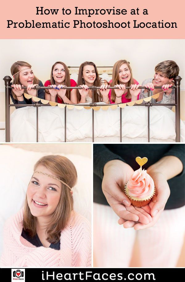 How to Improvise at a Challenging Photo Session Location #photography #iheartfaces #session