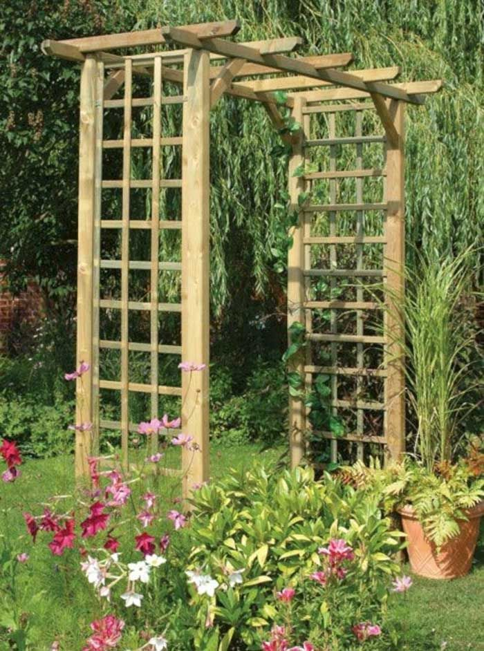 30 Unique Garden Trellis Ideas To Enhance Your Outdoors Garden