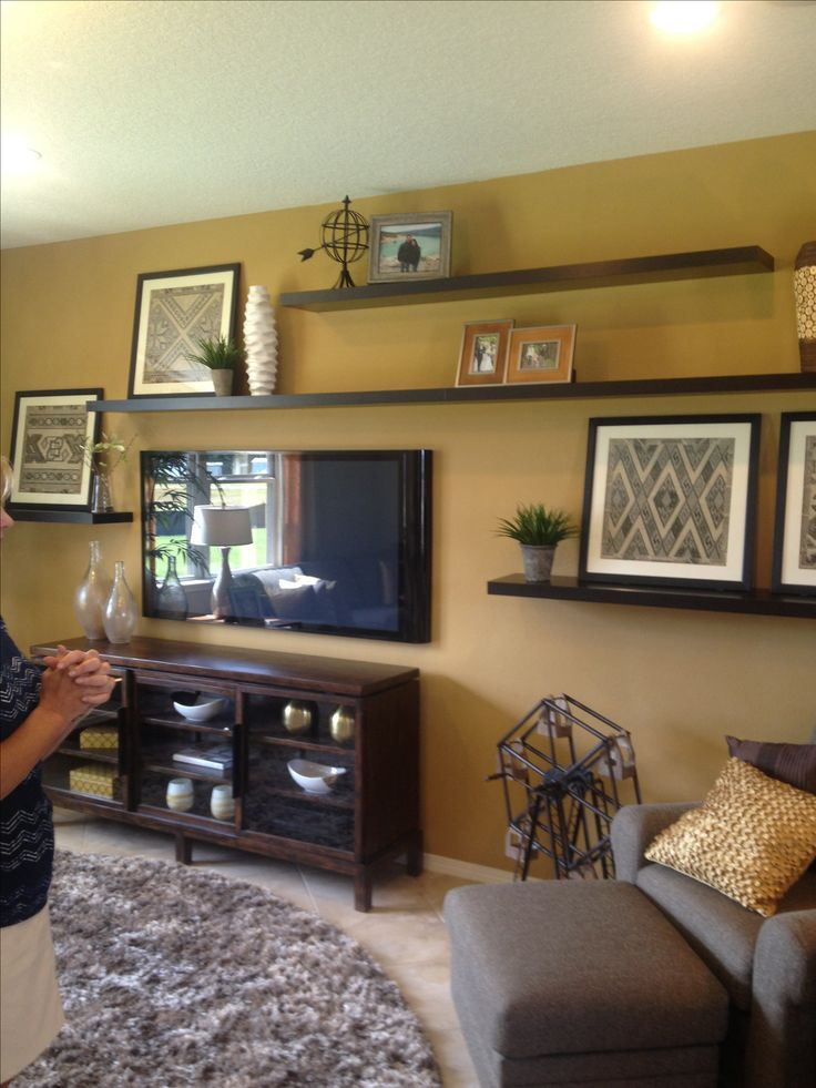 Living Room Wall Paint Color Ideas: Best 25+ Tv Wall Shelves Ideas On Pinterest