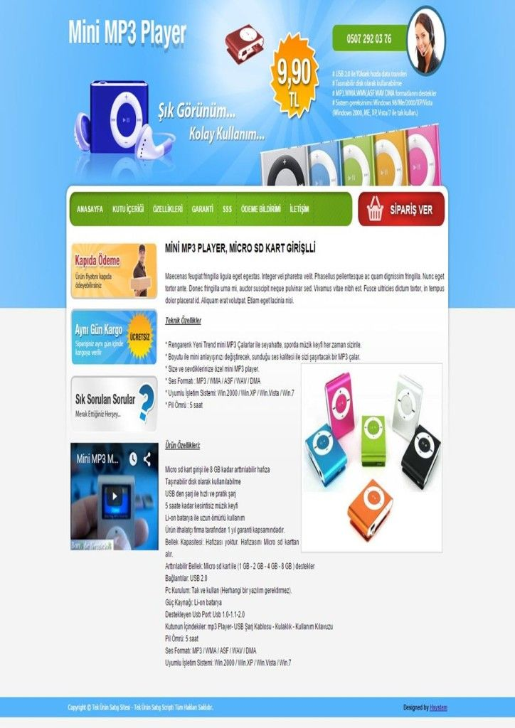 Tek Ürün Web Tasarım - Tek Ürün İnternet Sitesi | Web Tasarım | Web Sitesi Tasarımı | Web Yazılımı