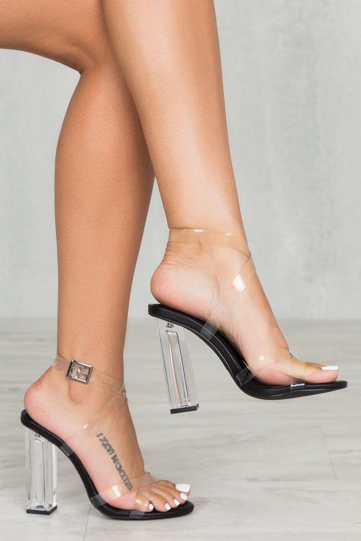 Glam Cross Strap Transparent Heel- FINAL SALE