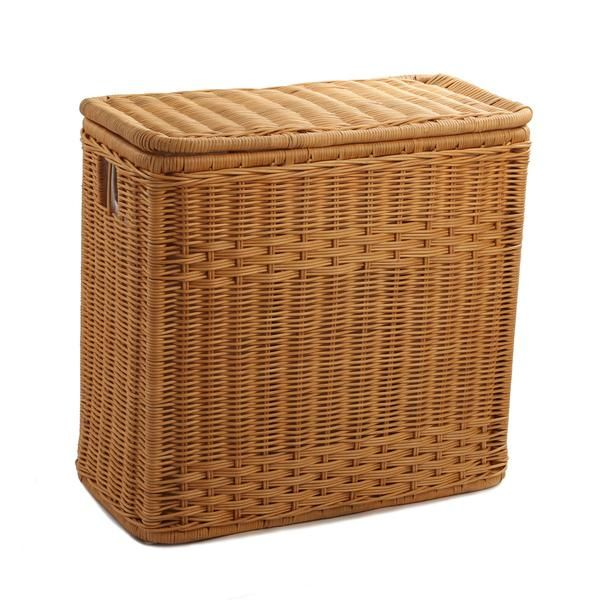 3 Compartment Wicker Laundry Hamper Wicker Laundry Hamper
