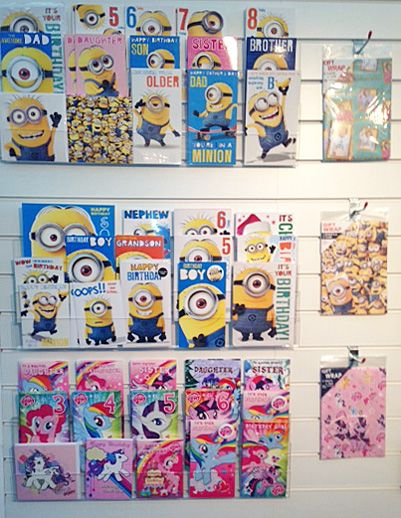 New Minion and My Little Pony Card Ranges