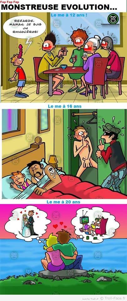 Voici comment l'homme évolue au fil du temps... Ahahaha