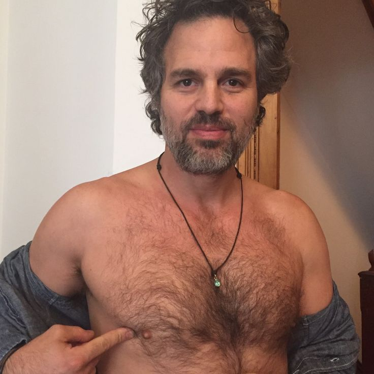 Mark Ruffalo supporting men cancer awareness .. and Woof!