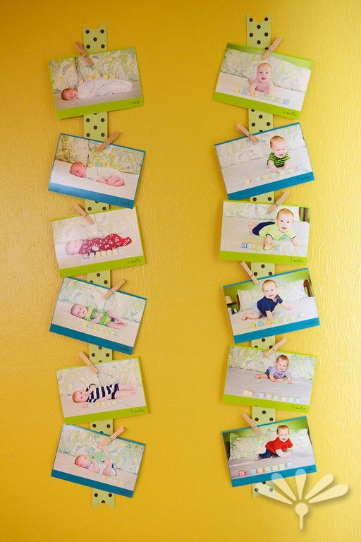 First Birthday Party Ideas .... Monthly photo ribbon