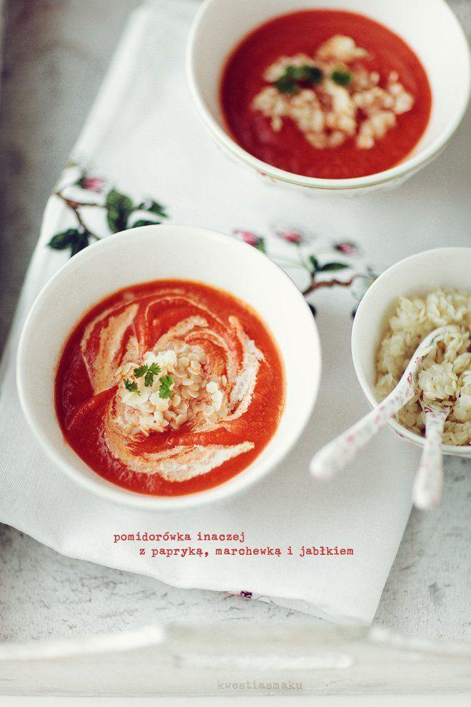 Zupa krem pomidorowa z dodatkiem jabłka | Kwestia Smaku