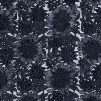 Sea NY Navy 3D Floral Embroidered Organza