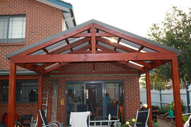 gable roof deck plan | Gable Roof Pergola Plans | Woodworking Project Plans