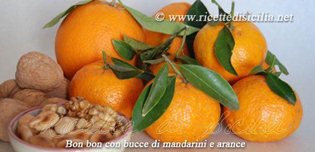 Bon bon con bucce di mandarini e arance