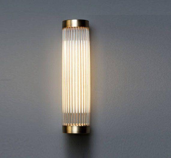 Erte Custom Moderne Art Deco Verre Tige Applique Murale Lampe