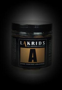 Lakrids med chokoladeovertraek!  DKK 64