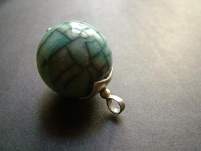 raku ceramic pendant silver socket