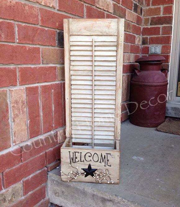 35 Ideas to Upcycle and Reuse Your Old Shutters - Snappy Pixels