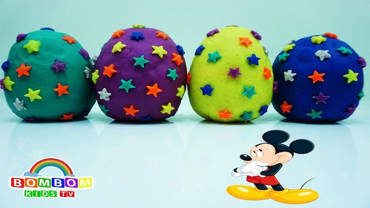 Play Doh Kinder Surprise Eggs Mickey Mouse Clubhouse Finger Family Song ...