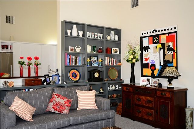 Eclectic lounge / living room.