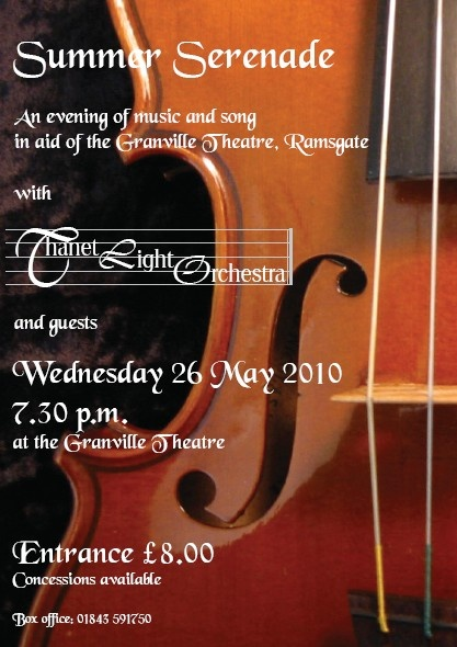 Summer Serenade, May 2010 - Thanet Light Orchestra at the Granville Theatre, Ramsgate