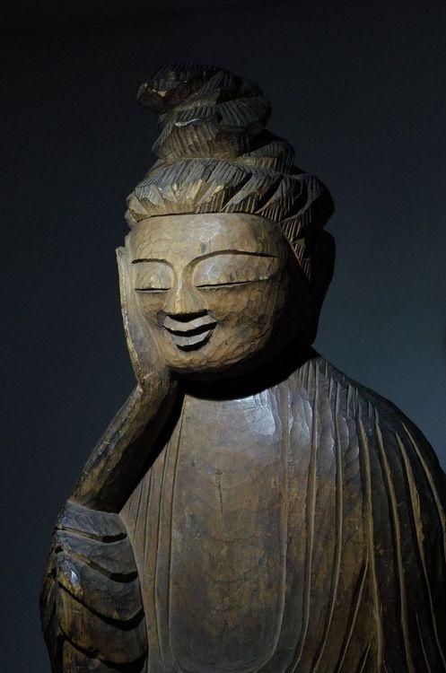 """""""Shiyui Bosatsu"""" Bodhisattva by Enku (Buddist monk, 1632-1695) Takayama Museum of History and Art, Gifu Pref., Japan"""