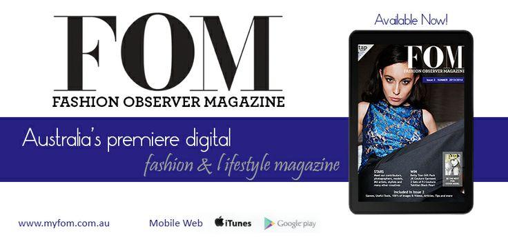 Get your copy www.myfom.com.au