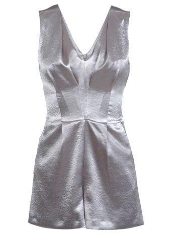 Shimmer Silver Playsuit - Sale $44 - Miss Selfridge US