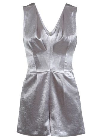 Shimmer Silver Playsuit - Sale $44 - Miss Selfridge US