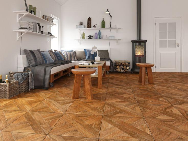 Salas de estar estilo madera - Interceramic