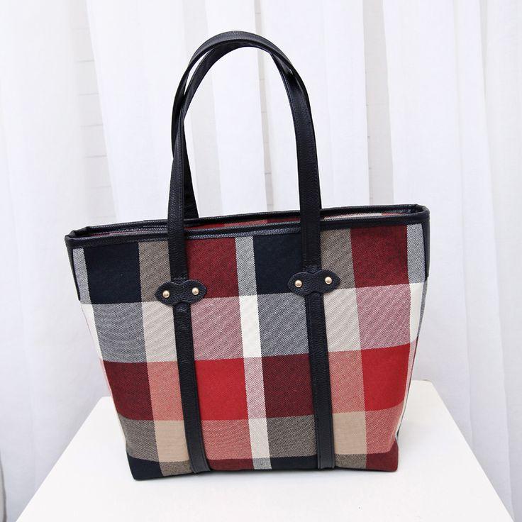 Англия стиль плед большой мешок плеча Классический Европейский стиль женская мода сумки Контракт шутник отдых старинные мешок