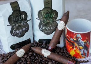 Twin Engine Coffee, Nicaraguan Cigar Blend #1 paired with Maya Selva cigars