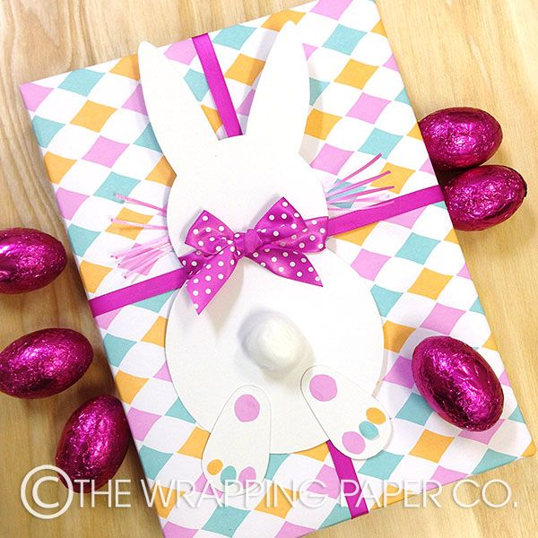 11 best easter gift wrapping images on pinterest easter gift wrap wrapco bunny gift wrapped in 100 recycled eco harlequin wrap with hand made cardboard negle Choice Image