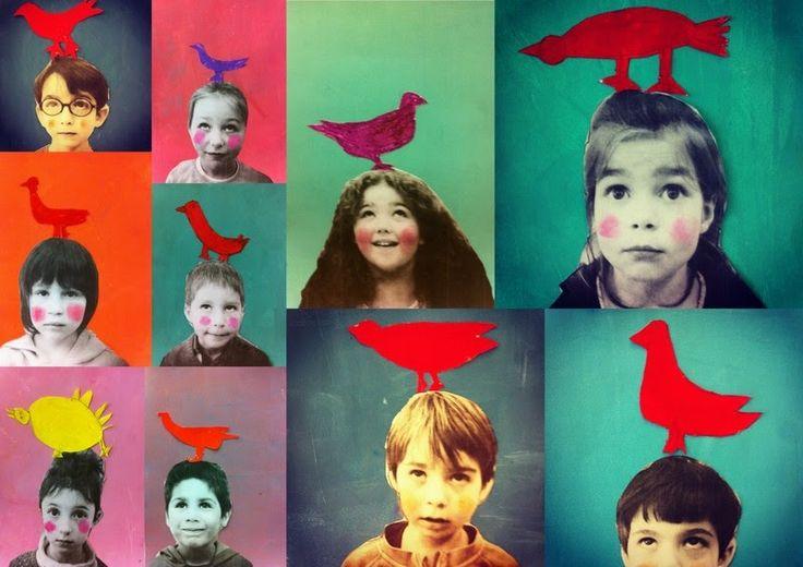 les petites têtes de l'art: L'enfant et l'oiseau