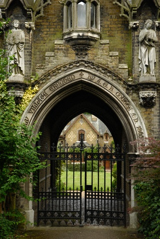 Entrance to Holly Village in Swains Lane- Highgate, England