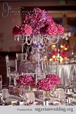 Nigerian Wedding Chandelier Centerpiece 8
