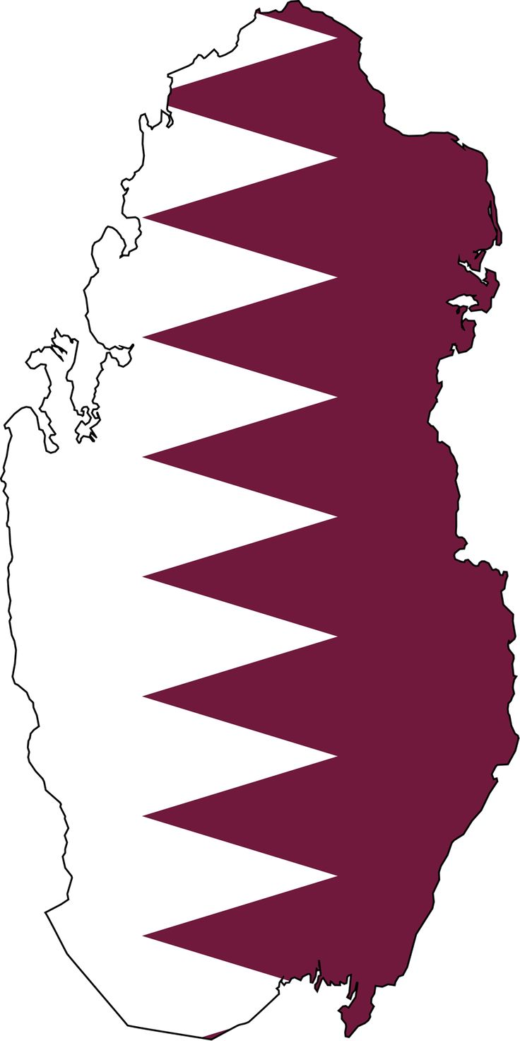 Qatar Flag Map - Mapsof.net