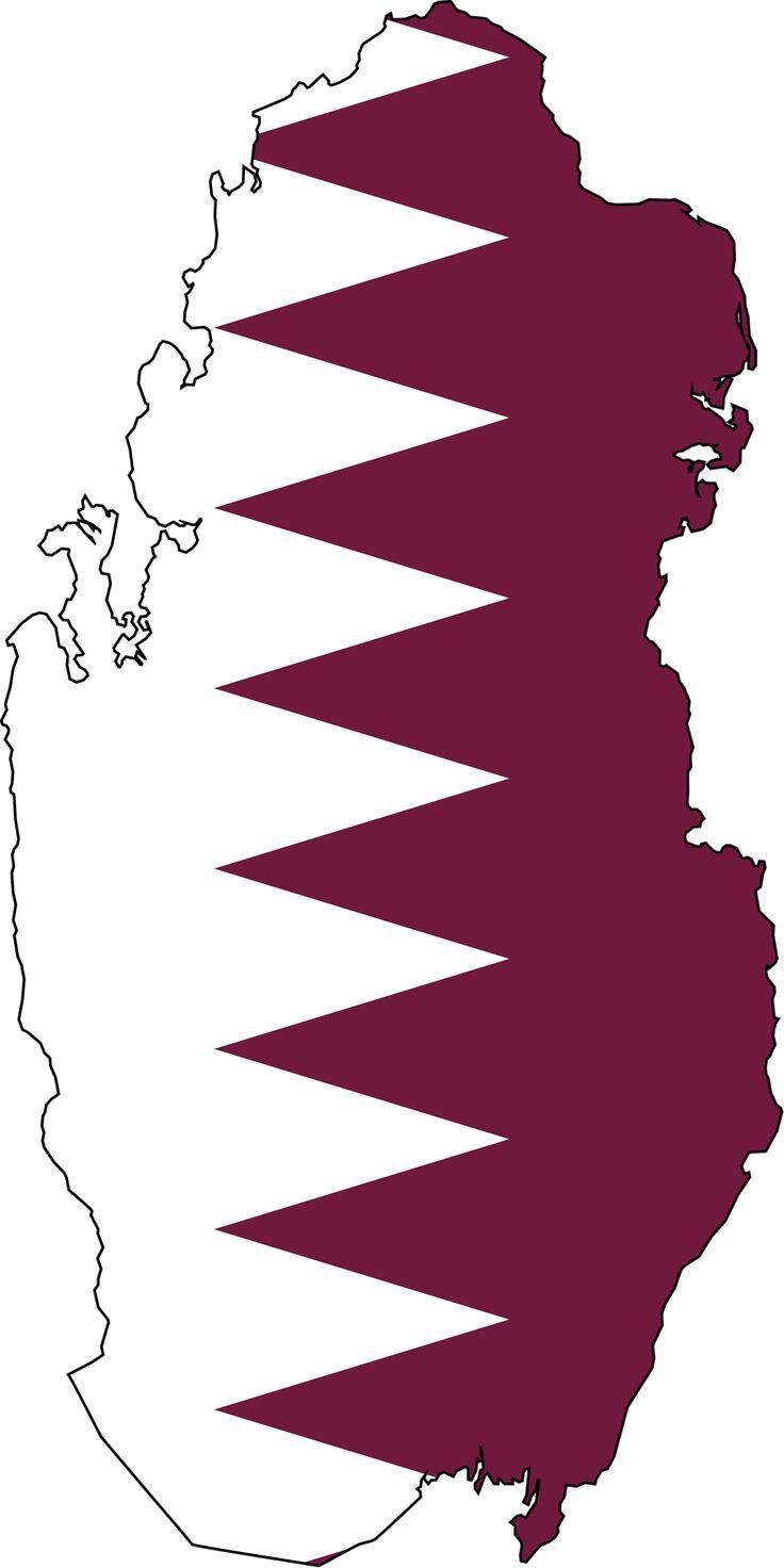 Qatar Flag Map - Mapsof.net