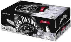 Jack Daniels & cola....in a can!  Had these at a rodeo in Australia, '99
