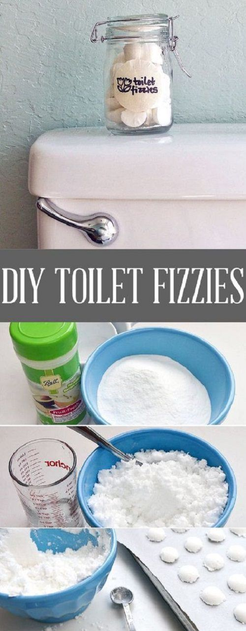 If you don't like using harsh chemical products to clean your toilet, try these DIY toilet fizzies. These are made natural ingredients and will leave your toilet sparkling clean.