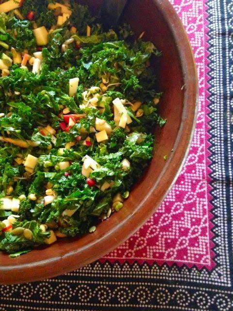 Salad Suggestions – Kale and Pomegranate Salad | Not So Nanna
